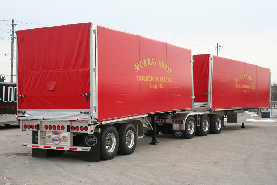 Rolling Tarp For Flatbed B Train Trailers