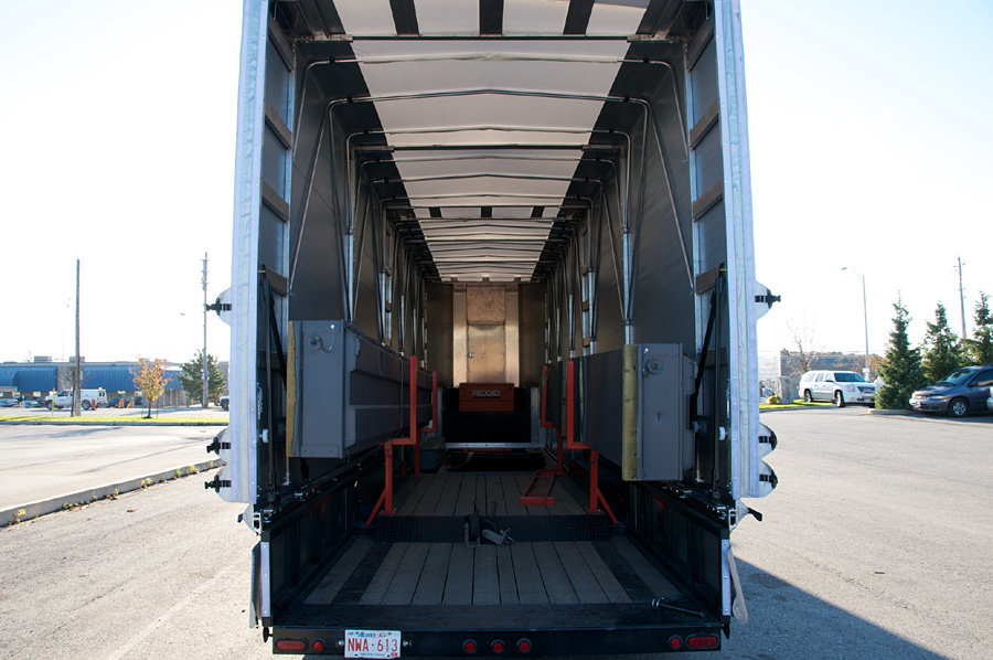 Rolling Tarp for Double Drop Deck Trailers